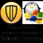 Как массово удалить Symantec Endpoint Protection