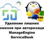Удаление лишних доменов при авторизации ManageEngine ServiceDesk