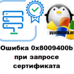 Ошибка 0x8009400b при запросе сертификата