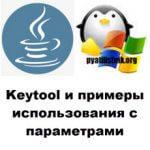 Keytool и примеры использования с параметрами