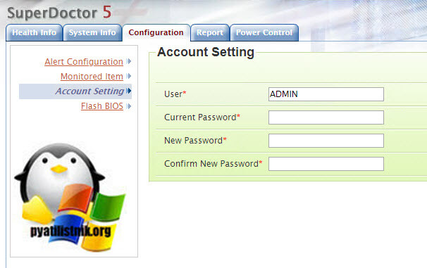 Account settings superdoctor 5