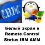 Белый экран в Remote Control Status IBM AMM