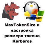MaxTokenSize и настройка размера токена Kerberos