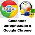 Сквозная авторизация в Google Chrome, за минуту