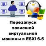 Перезапуск зависшей виртуальной машины в ESXi 6.5