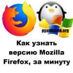Как узнать версию Mozilla Firefox, за минуту