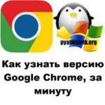 Как узнать версию Google Chrome, за минуту