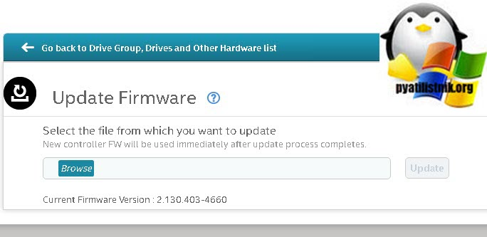 Update Firmware LSI Storage Authority