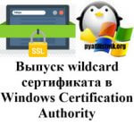 Выпуск wildcard сертификата в Windows Certification Authority