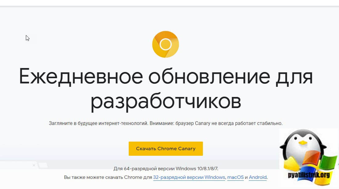 Скачать Google Chrome Canary