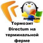 Тормозит Directum на терминальной ферме