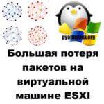 Большая потеря пакетов на виртуальной машине ESXI