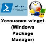 Установка WinGet Windows Package Manager (Менеджер пакетов)